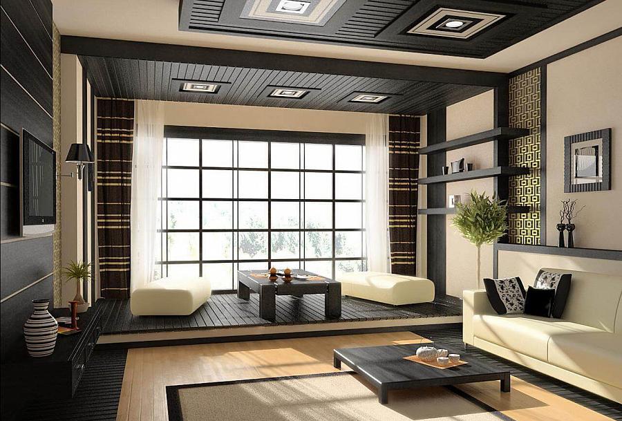 غرفة داخلية على الطراز الياباني - صورة 1