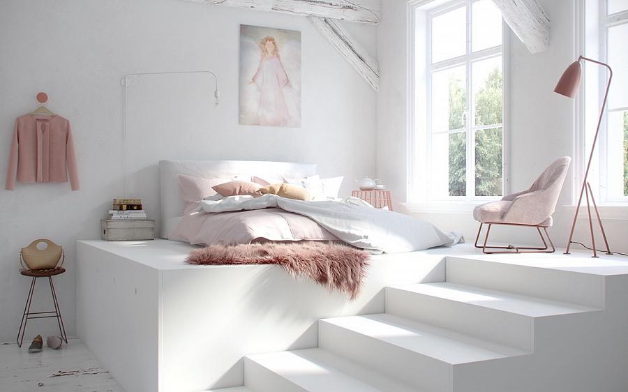 تصميم غرفة نوم مع أثاث أبيض - صورة 2