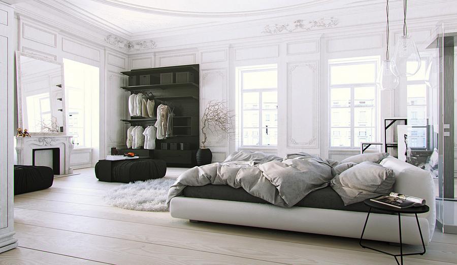 تصميم غرفة نوم مع أثاث أبيض - صورة 4