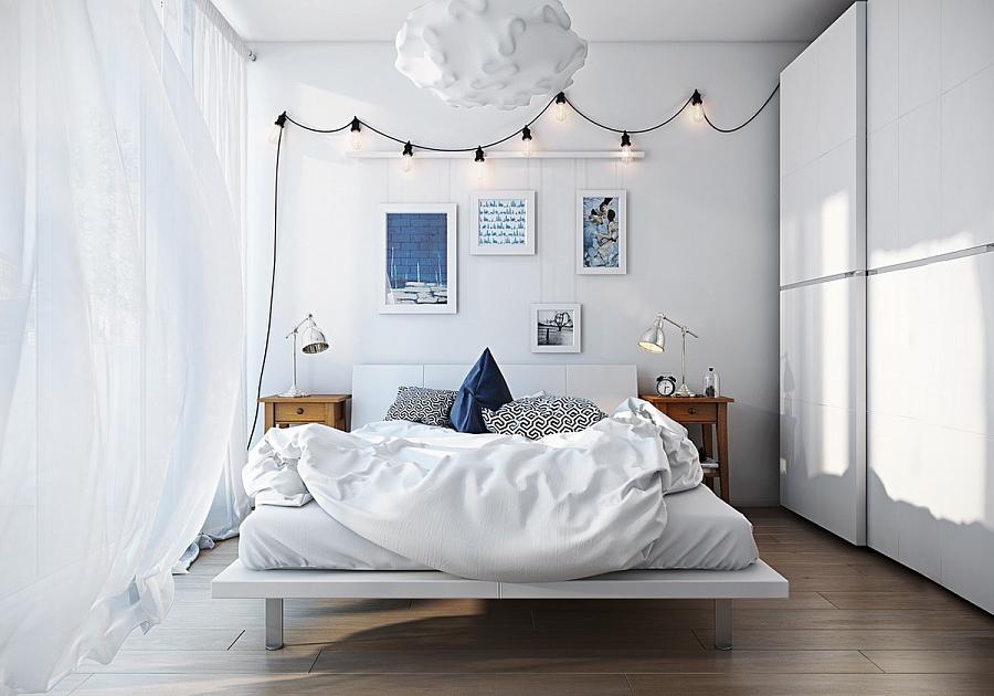 تصميم غرفة نوم مع أثاث أبيض - صورة 7