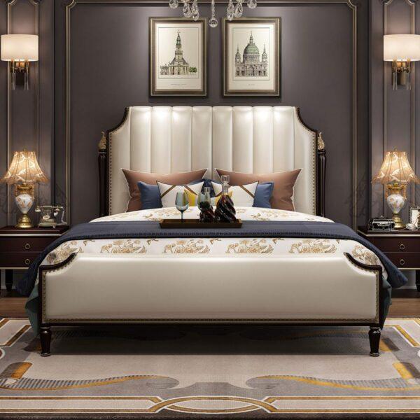 غرفة النوم الايطالية الفاخرة بالتصميم الكلاسيكي مفروشات