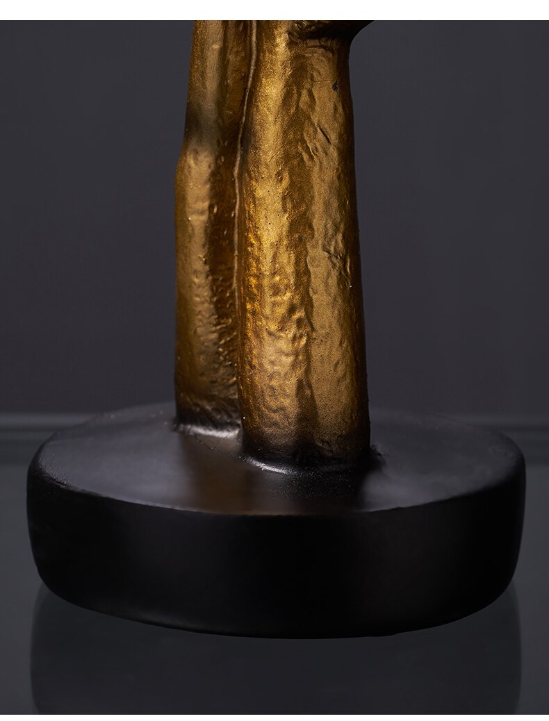 Oymak reçine süs sessizlik altındır masa dekoru İnsan yüz heykeli at kafası tabanı ile ev dekorasyon aksesuarları Modern