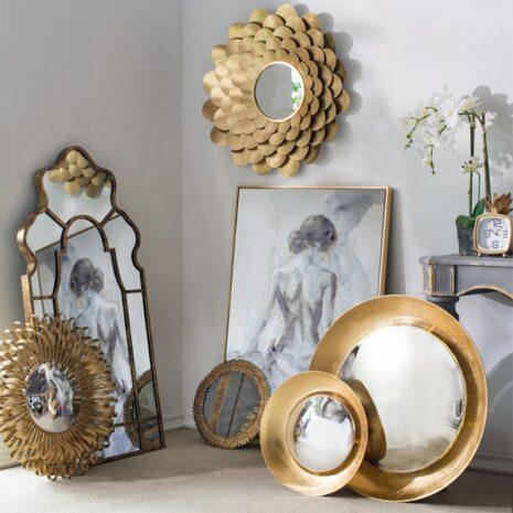 مرآة الزهرة الجدارية اكسسوارات جدارية