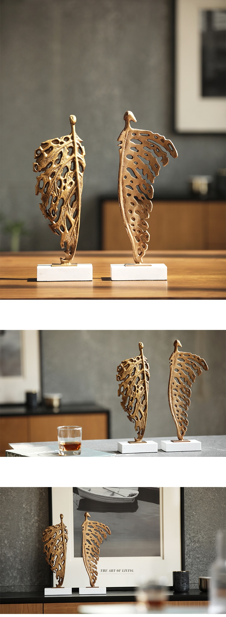 Flying Male Female Characters Metal Figures Sculpture Marble Crafts Home Decoration Accessories Abstract Statues Ornaments Gifts