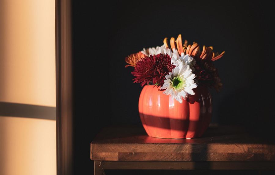 تكوين الزهور في الداخل