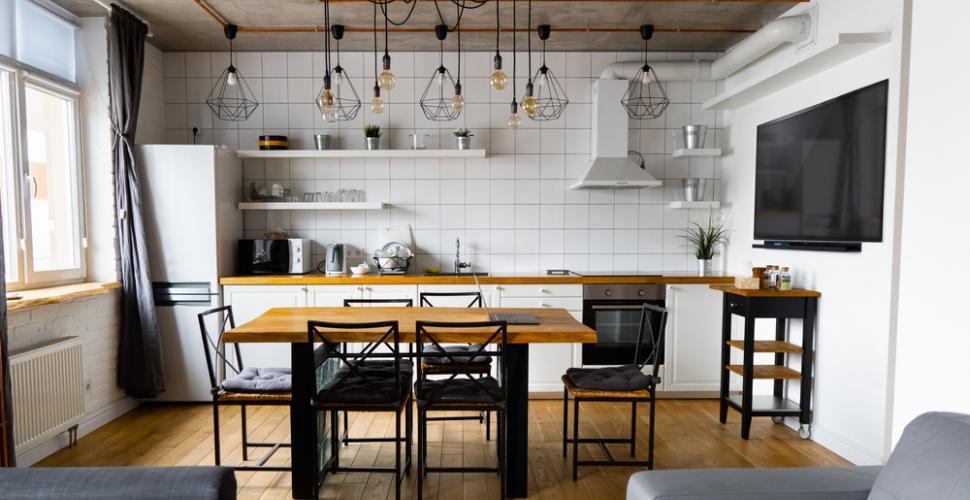 ديكور على الطراز الصناعي في المطبخ