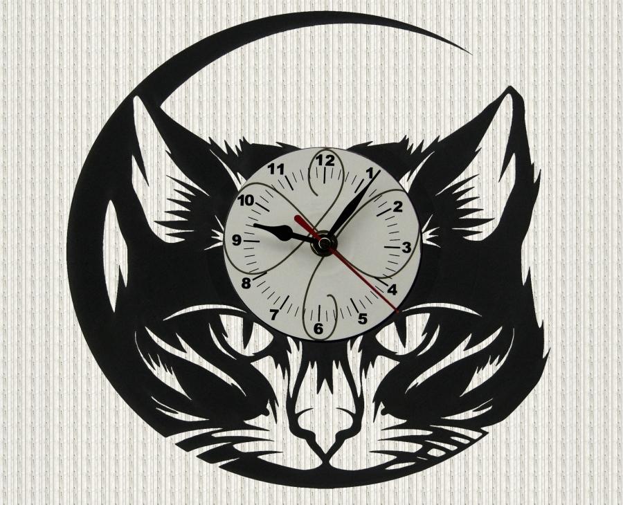 الساعة كجزء من الصورة على الحائط