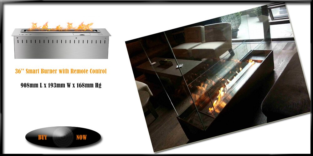 Inno living fire 36 inch electric fireplace insert with remote control
