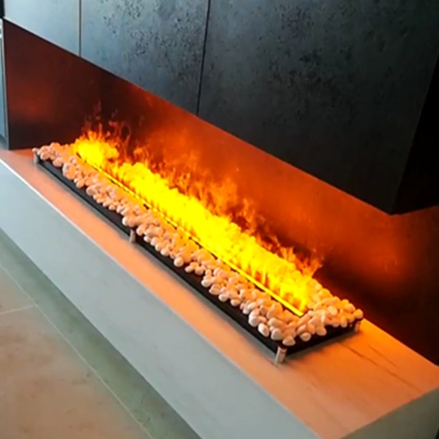 69cm indoor option burning sound free shiping Top Quality electric fires 3d water vapor fireplace