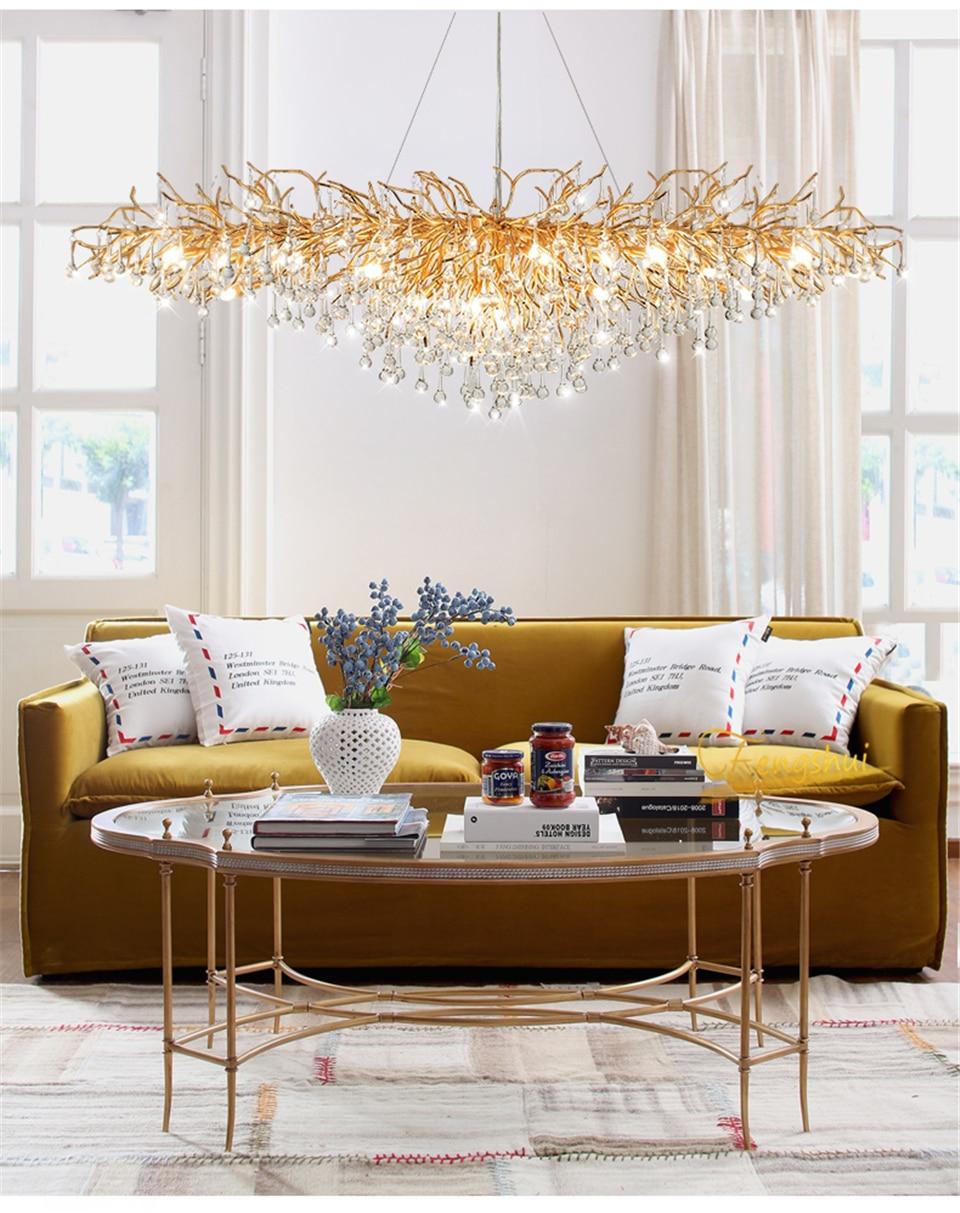 Nordic Luxury Crystal LED Chandelier Dimming LOFT Villa Large Lustre Water drop Living Room Hotel Hall Art Indoor decor Lighting