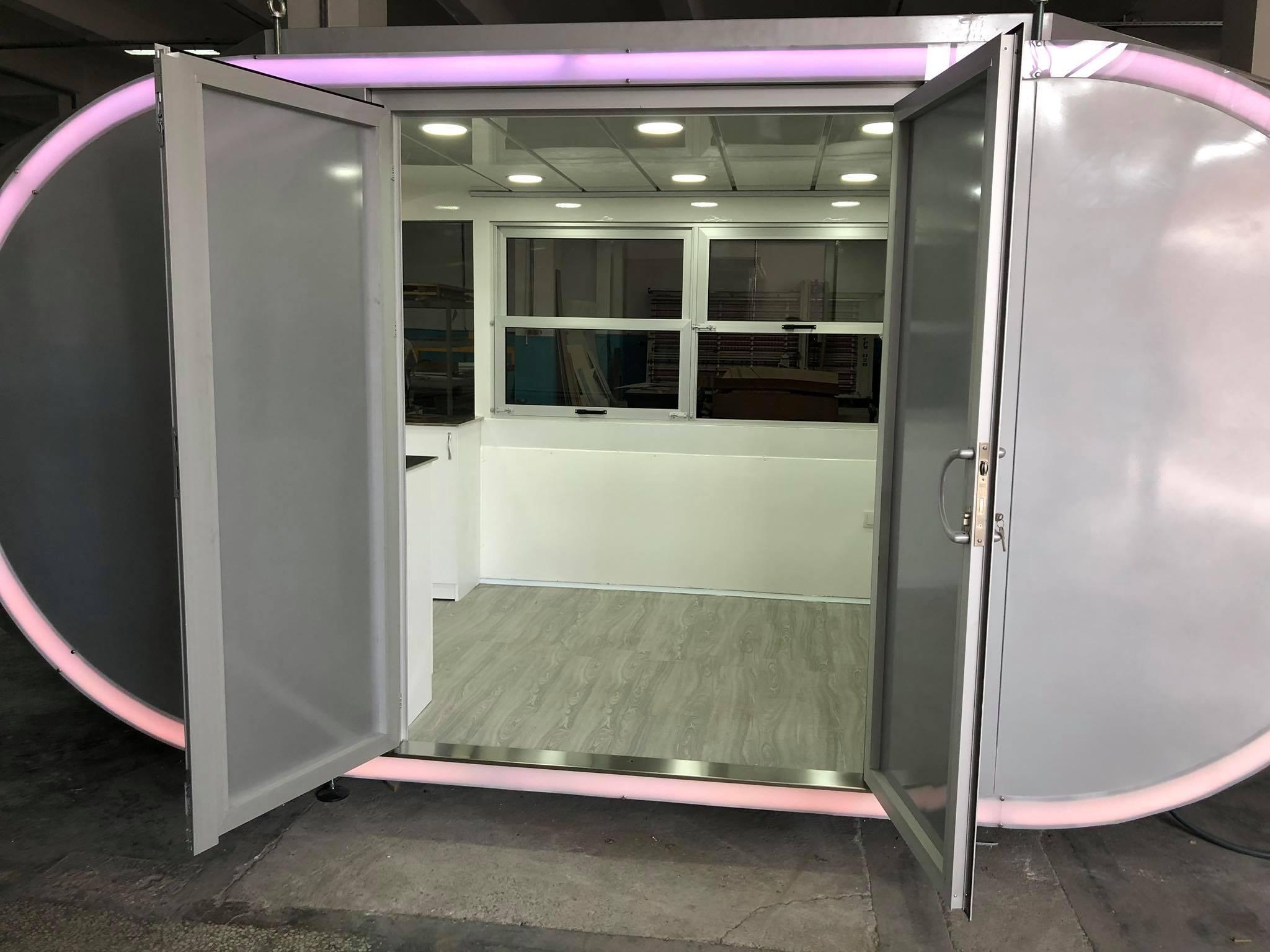 Ice Cream Cabinet , Mobile Ice Cream & Food Cabin , Büfe Kabin