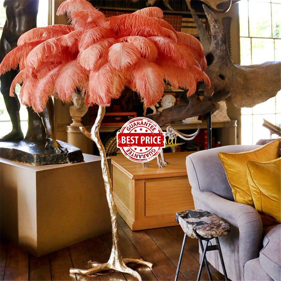 Nordic Colorful Feather Floor Lights Lighting Living Room Bedroom Decor Standing Lamps Modern LED Floor Lamp Indoor Feather Lamp