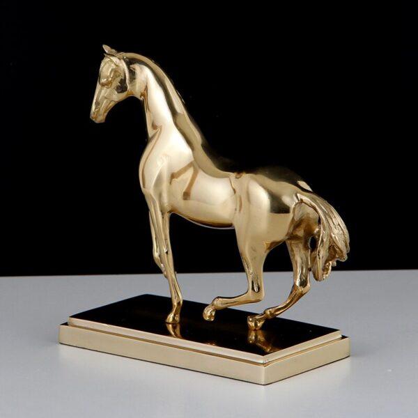 تمثال الحصان المعدني المجرد اكسسوارات منزلية