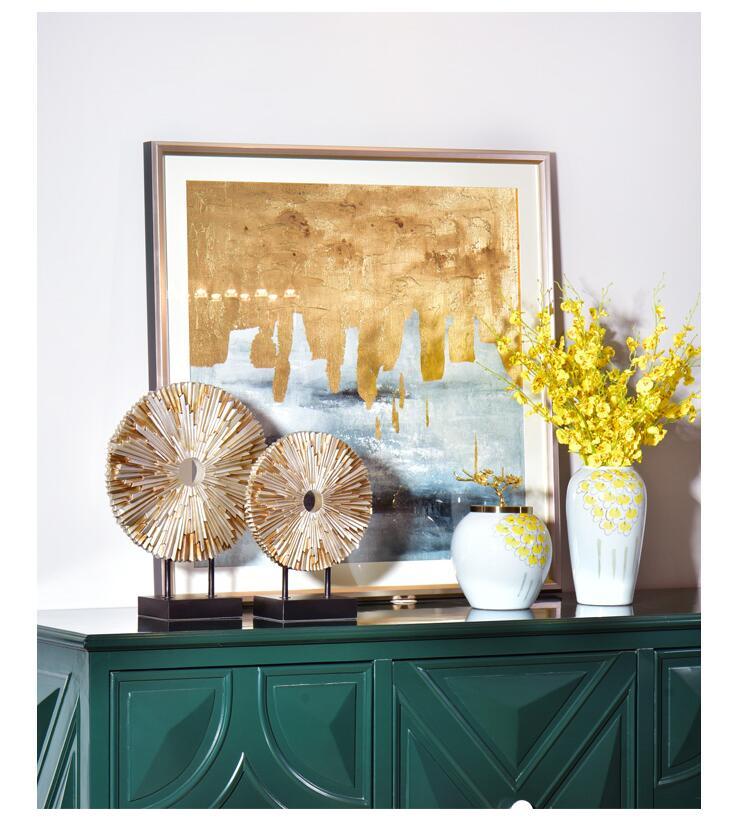 European Luxury Resin Round Figurines Art Home Furnishing Decoration Crafts Livingroom Table Miniatures Office Desktop Ornaments