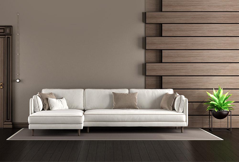 ديكور القاعة: الجدران الخشبية ليست قديمة
