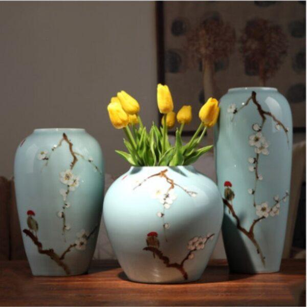 مزهريات السيراميك الصينية الحرفية اكسسوارات منزلية