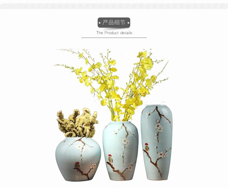 Ceramic vase Living room TV wine cooler Entrance home Decorations Ornaments Free shipping