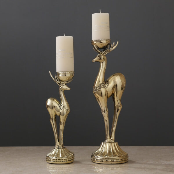 غزالان حاملين الشموع الفاخر اكسسوارات منزلية