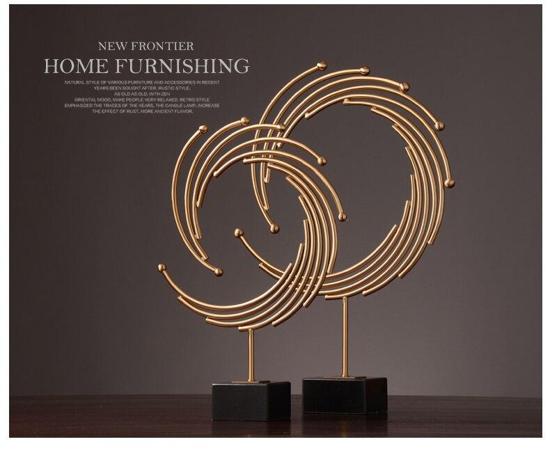 European new classical modern living room handicrafts Creative circula arts and crafts decoration home decor