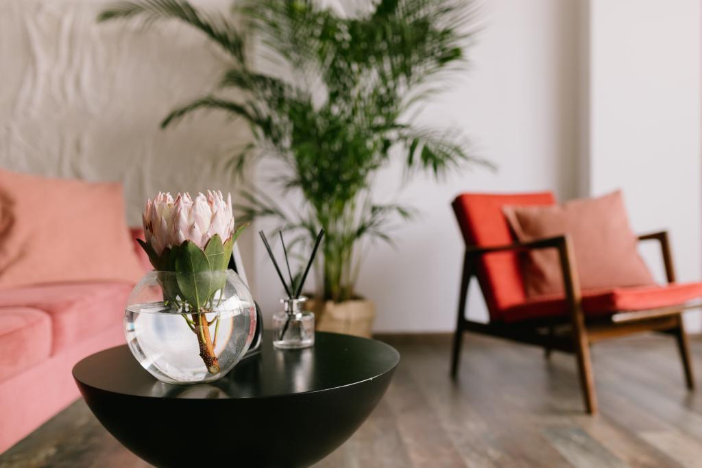 أفكار لترتيب الورود في المنزل