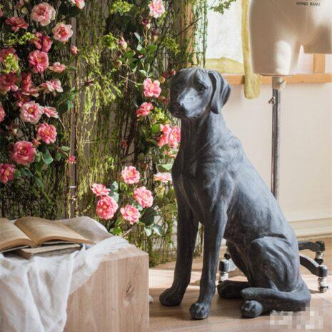 تمثال الكلب روبي التراثي اكسسوارات منزلية