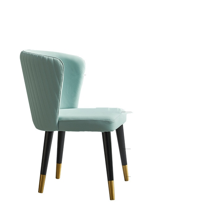 Light luxury post-modern solid wood dining chair Fan chair American-style sales office to discuss chair Nordic simple coffee sho