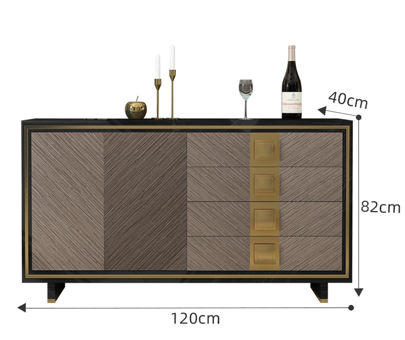 Light luxury dining table sideboard TV cabinet storage entrance hall cabinet console table