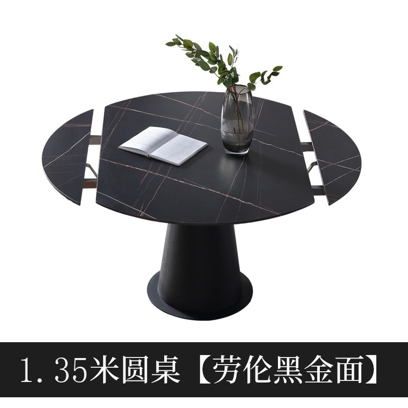 marble dining table imported rock plate folding round dining table multifunctional square and round dining table