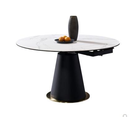 طاولة الطعام الدائرية الايطالية التصميم مفروشات