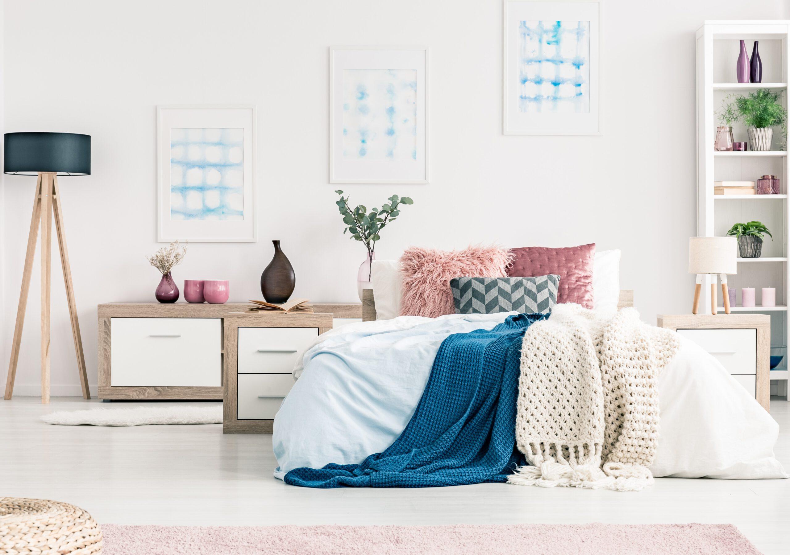ديكورات غرف النوم بألوان الصيف 2021