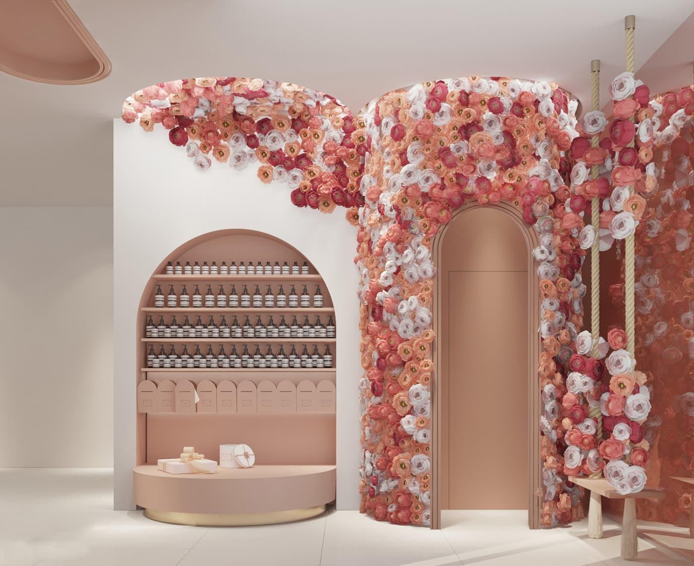 تصميم محل زهور