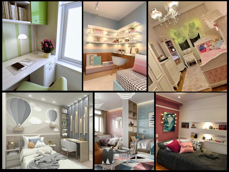 Arranging and designing small and narrow children's rooms