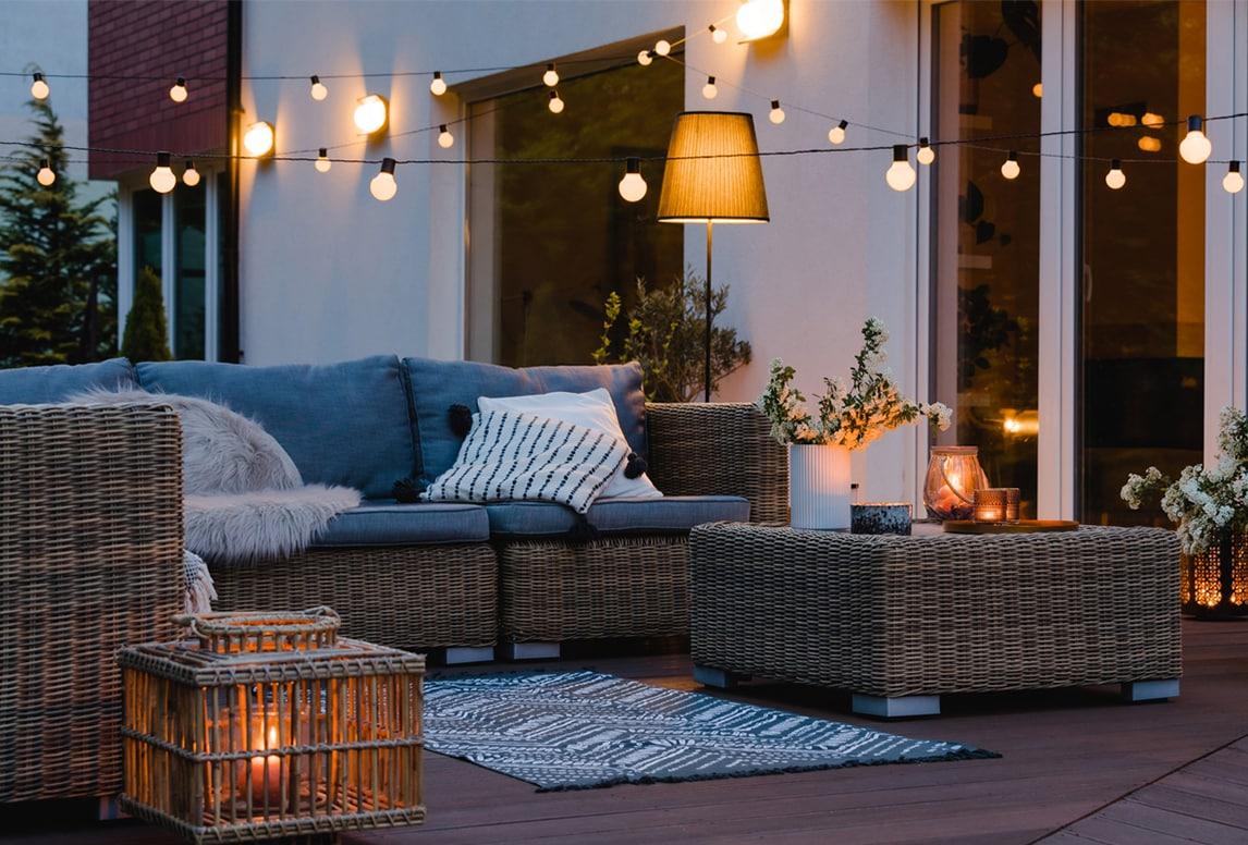 أفكار لإضاءة الحدائق الخارجية |