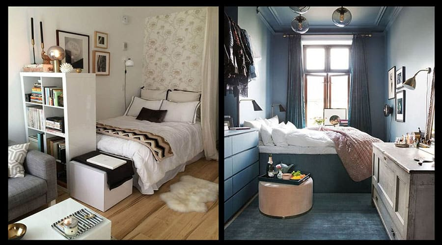 10 أفكار سحرية لغرف نوم صغيرة عصرية(حلول تصميم غرف النوم الضيقة)بعدسة معماري2020