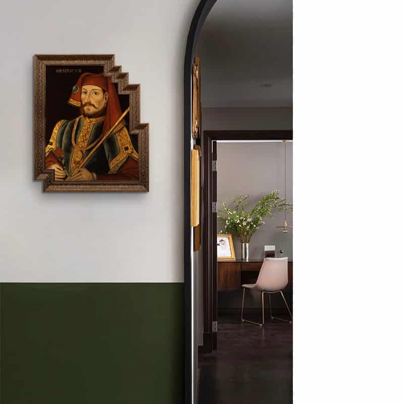 50x60cm Retro Art Decor Painting Living Room Hotel Office Special Shaped Frame Hanging Painting Classical Character King Mural