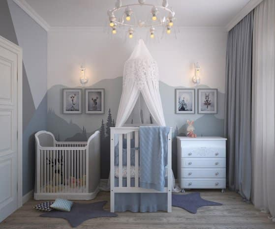 Arrangement and design of small and narrow children's rooms