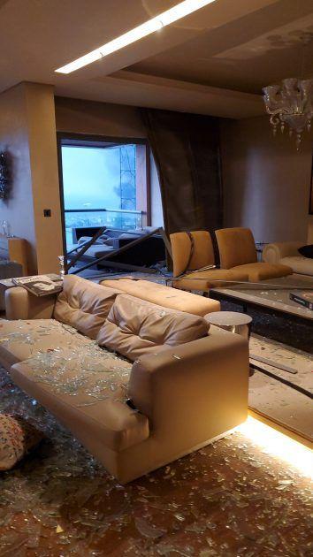 منزل اليسا بعد انفجار ميناء بيروت