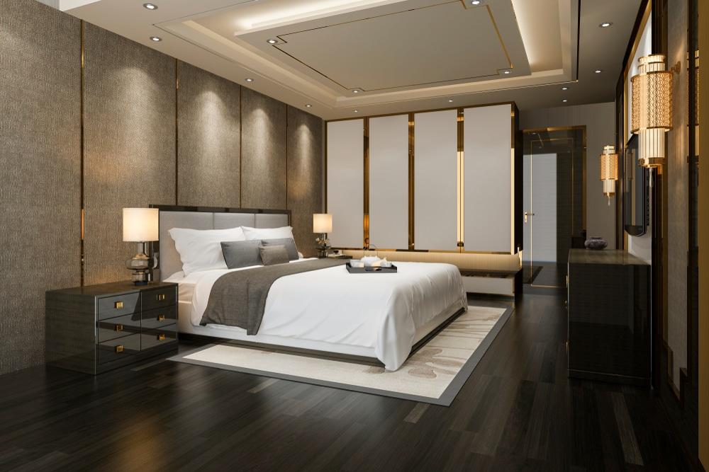 نماذج ورق حائط فاخرة لغرفة النوم