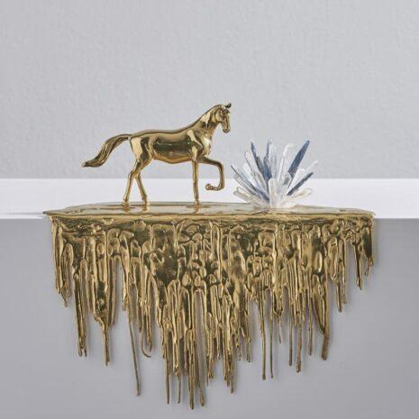 تحفة الحصان العربي النحاسي اكسسوارات منزلية