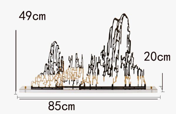 تحف الجبال المعدنية اكسسوارات منزلية