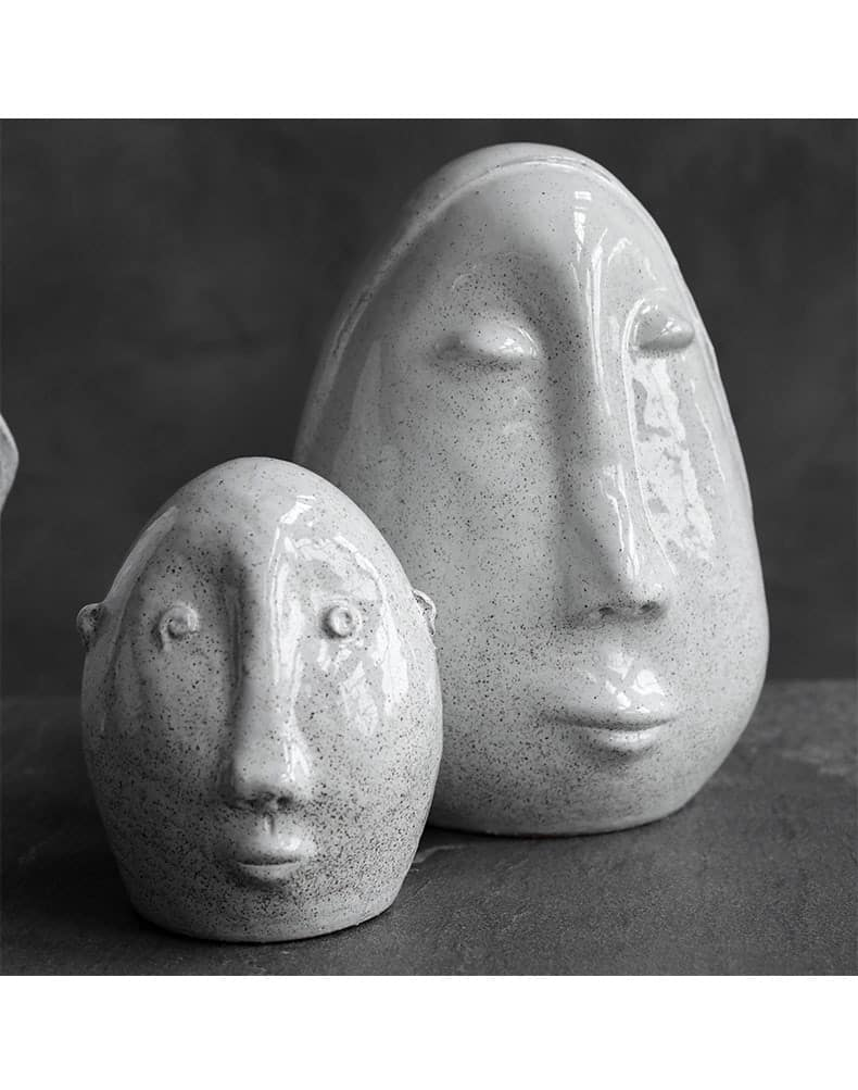 Modern Multiple Expressions Character Head Art Ornaments Home Ceramic Crafts Room Decor Objects Office Desktop Accessories Gifts