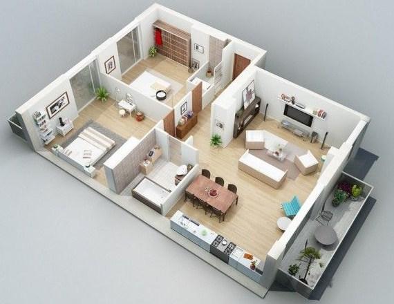 مخطط بيت دور واحد