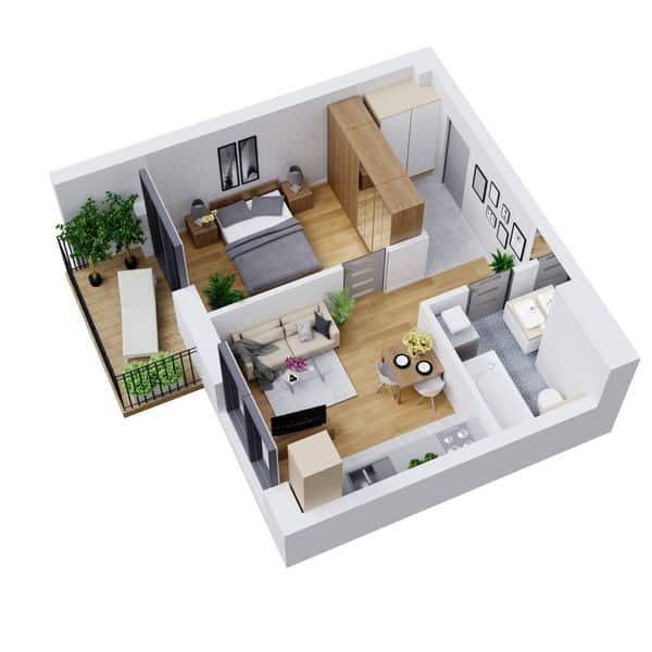 مخطط منزل صغير