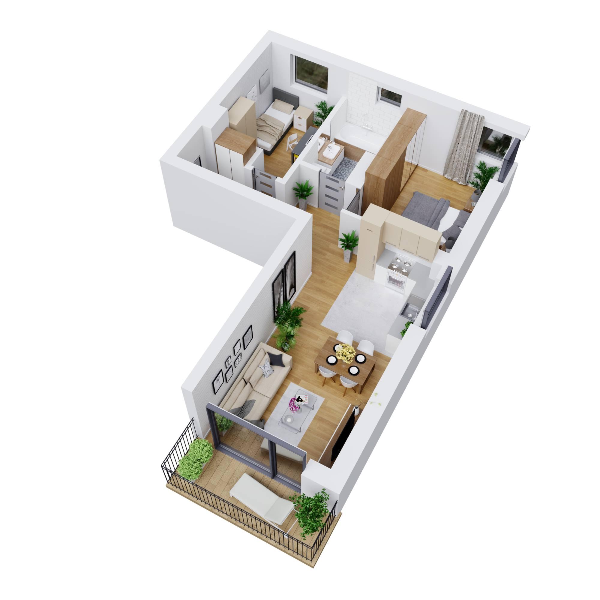 مخطط منزل متوسط