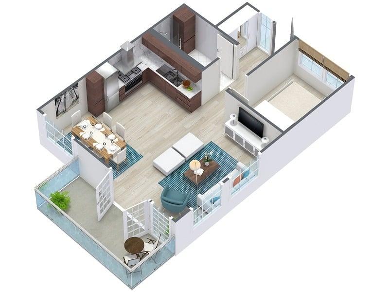 تصميم منزل مساحة 100 متر