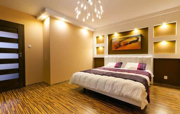 أنواع الإضاءة في تصميم غرفة النوم