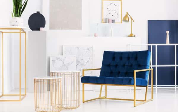 اللون الذهبي في تفاصيل ديكور المنزل المعاصر