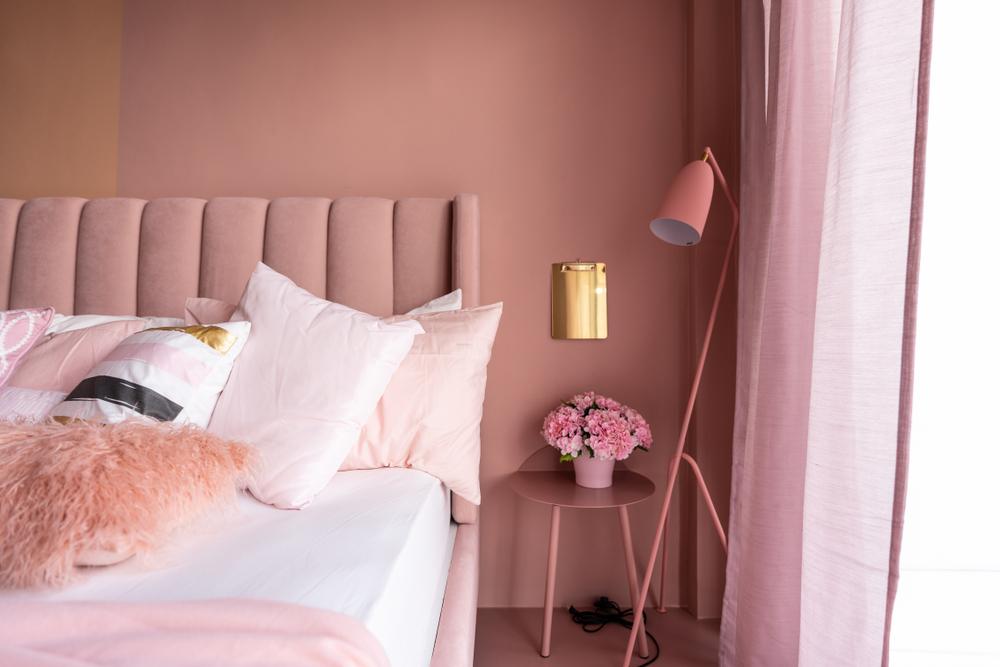 المخمل في ديكور غرفة النوم المعاصرة