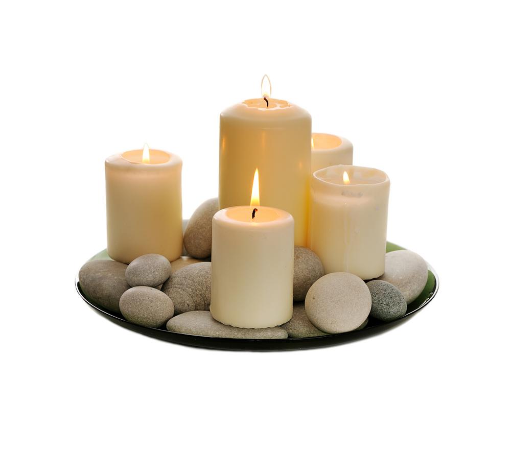 الشموع في تزيين المنزل