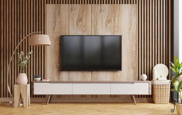 أفكار تزيين لدمج التلفزيون في غرفة المعيشة